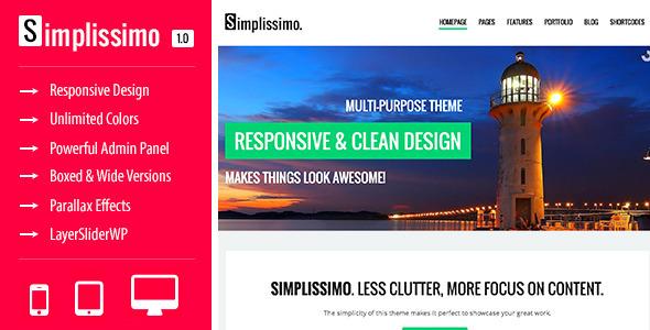 ThemeForest Simplissimo A Clean Multi-Purpose Theme 5107174