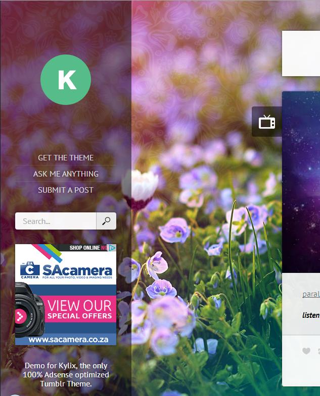 Kylix - Responsive Adsense Ready Tumblr Theme