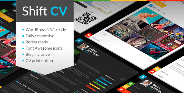 ThemeForest ShiftCV Blog  Resume  Portfolio  WordPress 5150965
