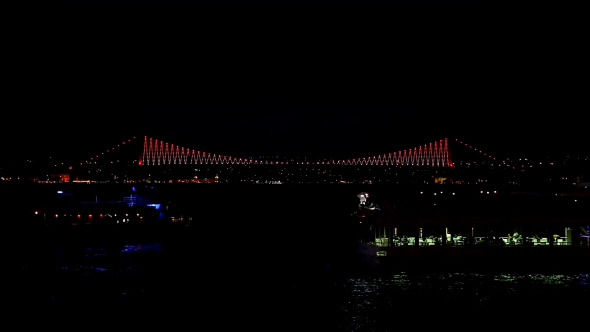 Istanbul Bosphorus Bridge Night Time