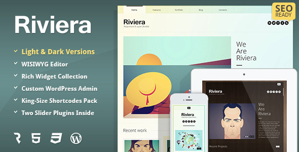Riviera - Portfolio WordPress Theme
