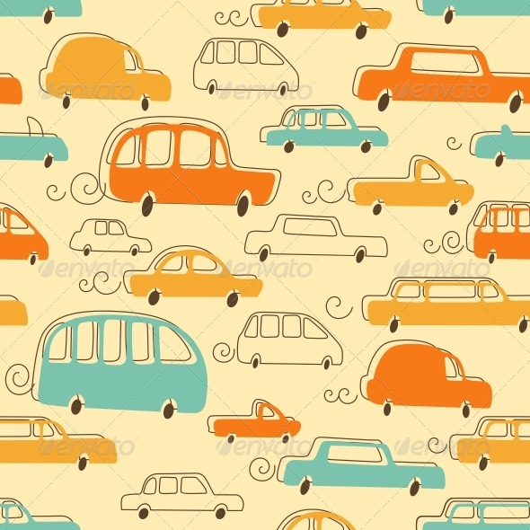 GraphicRiver Cars Pattern 5167742