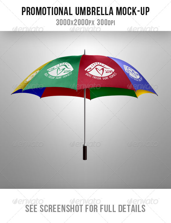 GraphicRiver Umbrella Mock up for Advertising and Promos 5167937