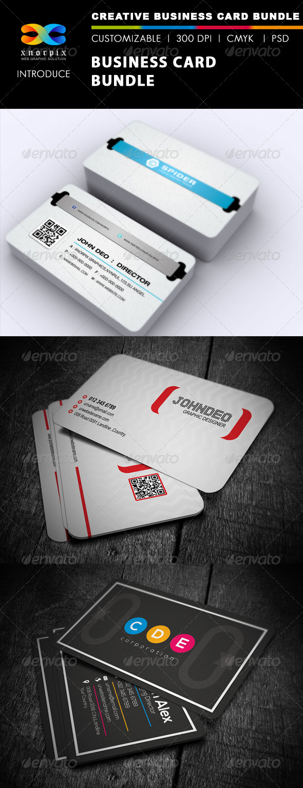 GraphicRiver Business Card Bundle 3 in 1-Vol 10 5167998