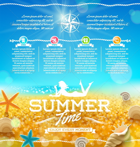 GraphicRiver Summer Vacation and Travel Design 5168370