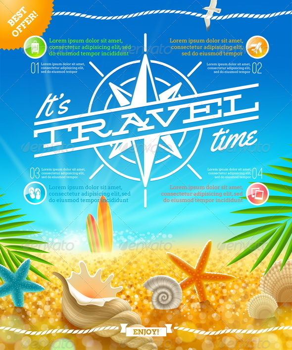 GraphicRiver Travel and Summer Holidays Design 5168890