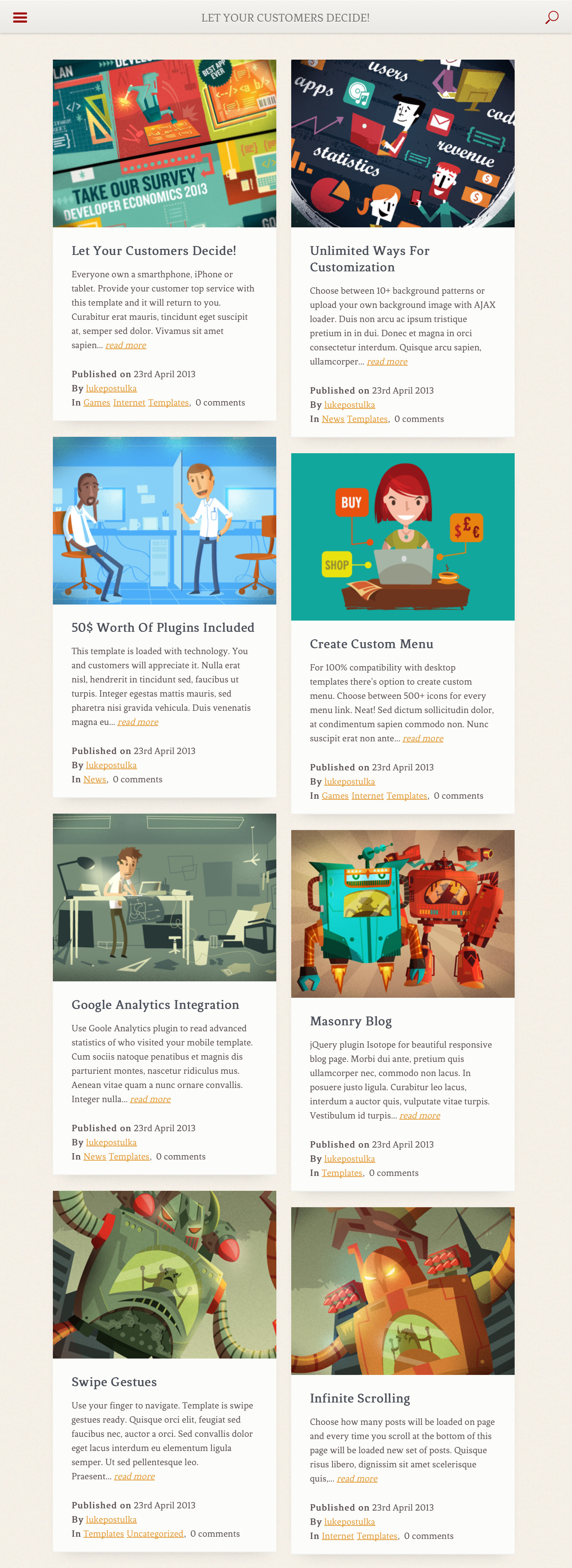 Resans - Mobile and Tablet   HTML5 & CSS3 Retina