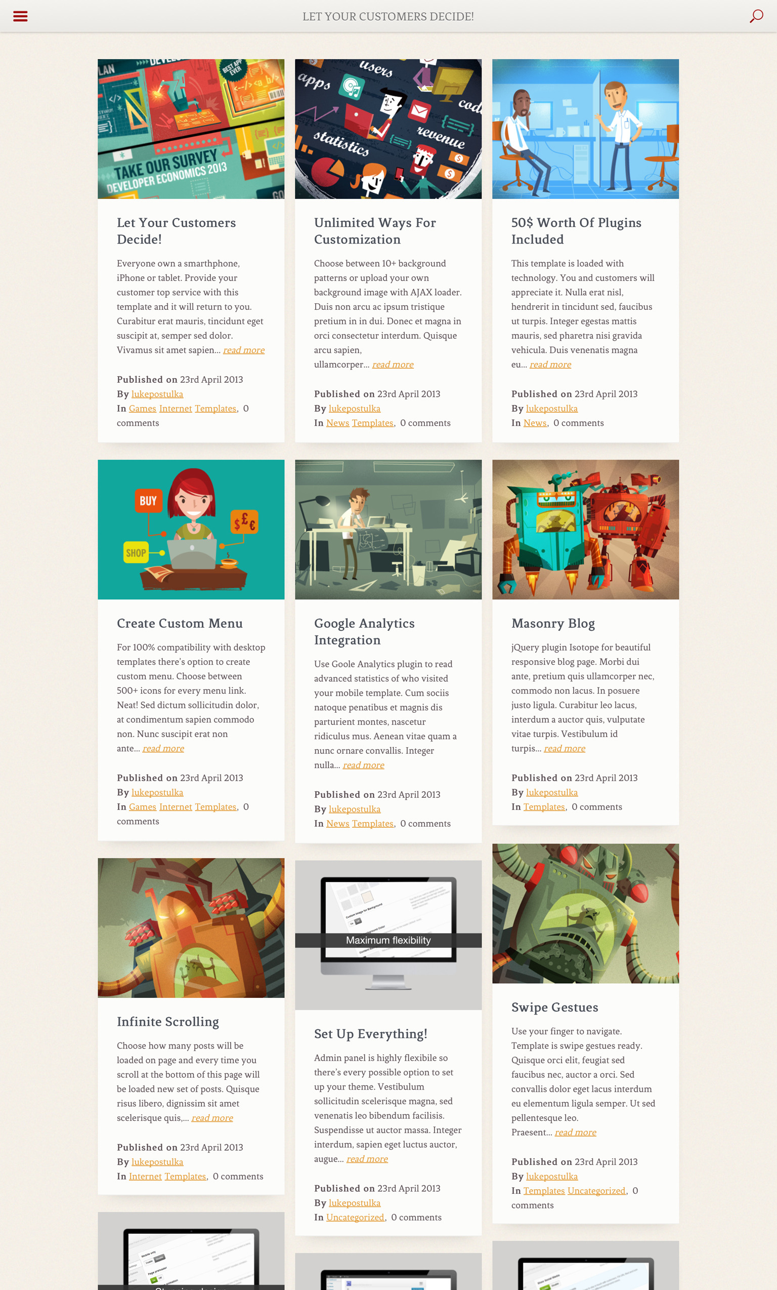 Resans - Mobile and Tablet | HTML5 & CSS3 Retina