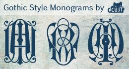 Gothic Style Monograms