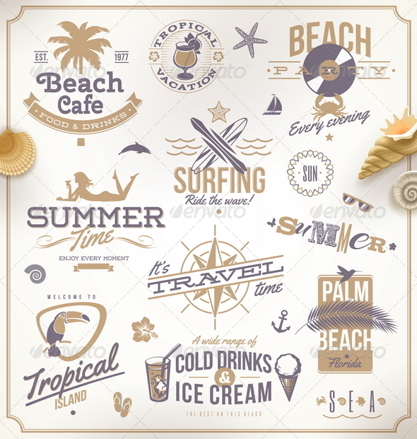 GraphicRiver Vector Set of Travel and Vacation Emblems 5169028
