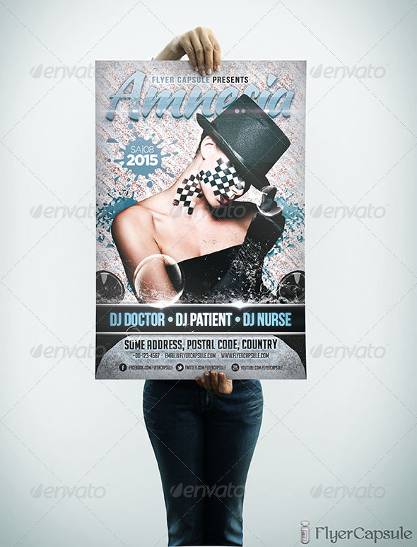 GraphicRiver Amnesia Flyer Template 5072112