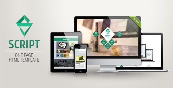 Script - HTML5 One Page Template - Portfolio Creative