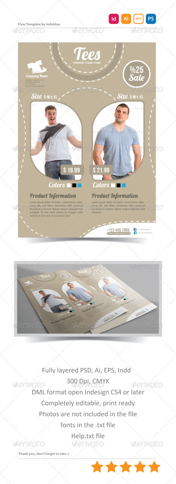 GraphicRiver Tees Flyer Template 5169420
