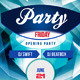 Crystal party flyer template - GraphicRiver Item for Sale