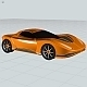 Futuristic concept car toy CAD model