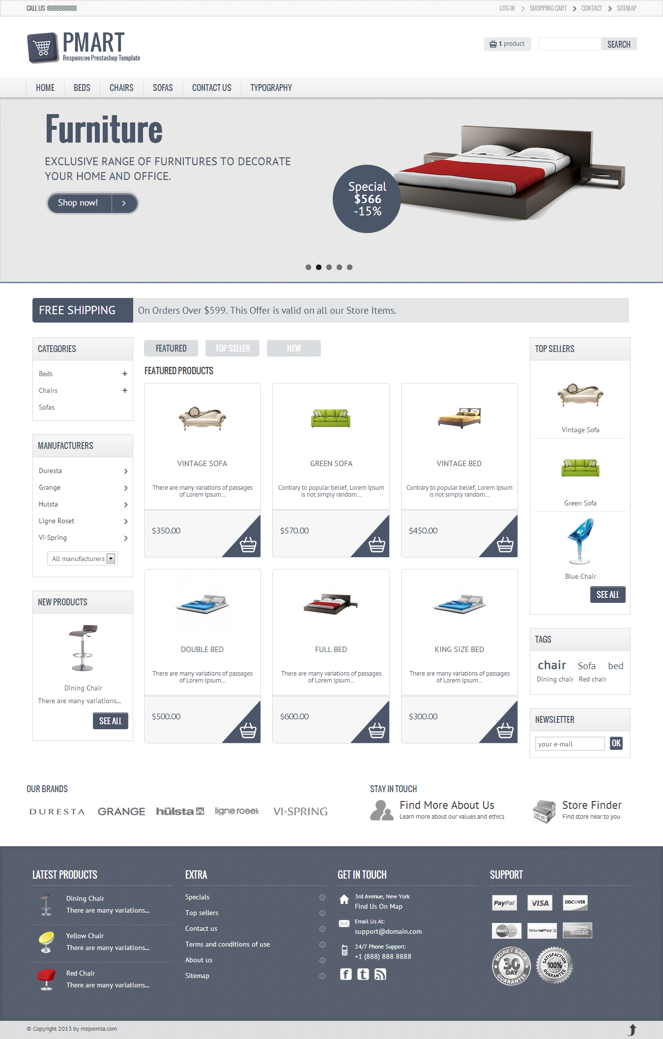 02 homepage Pmart   Responsive And Clean Ecommerce Theme