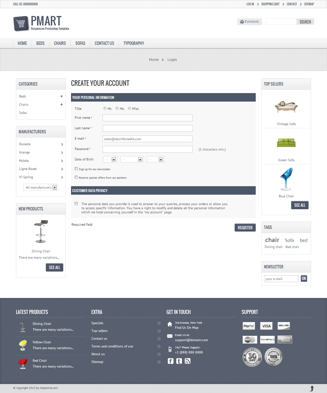 Pmart - Responsive and Clean Ecommerce theme