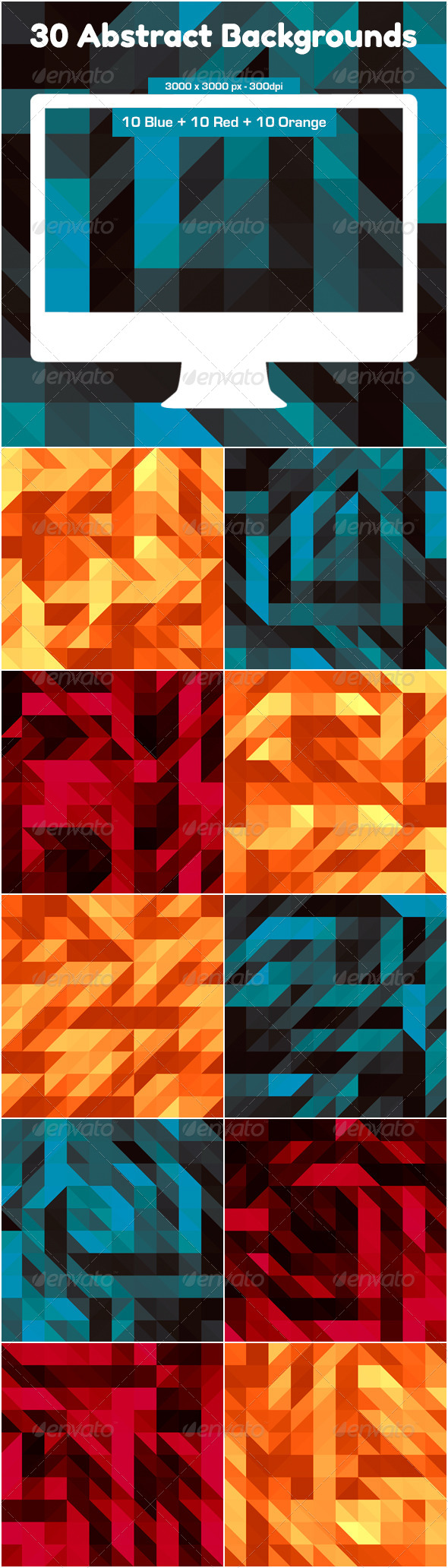 GraphicRiver 30 Triangles Backgrounds 5169726