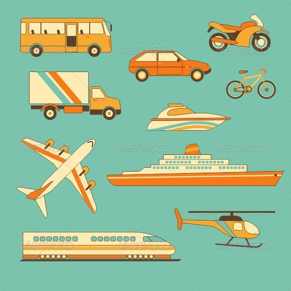 GraphicRiver Set of Vehicles 5169773