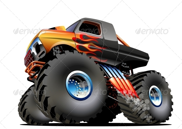 GraphicRiver Cartoon Monster Truck 5169959