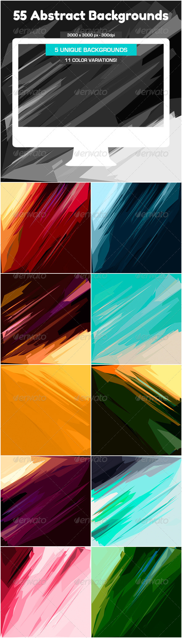 GraphicRiver 55 Abstract Backgrounds 5169966