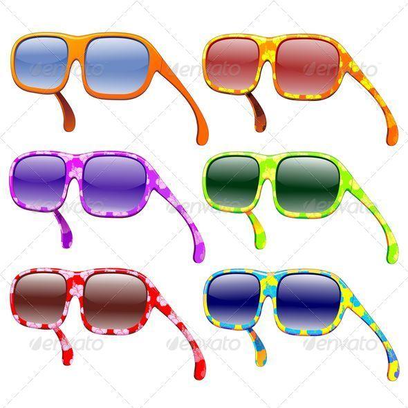 GraphicRiver Sunglasses Summer Fashion Colors 5169986