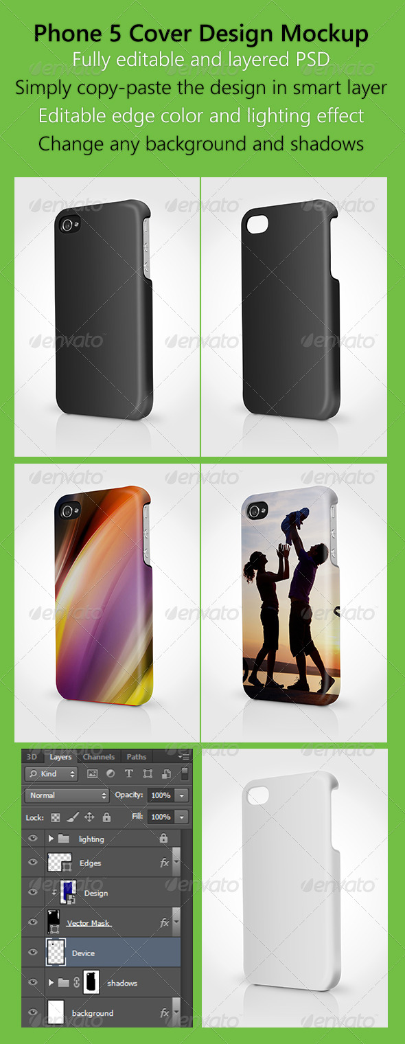 GraphicRiver Phone 5 Cover Design Mock up 2 5170027