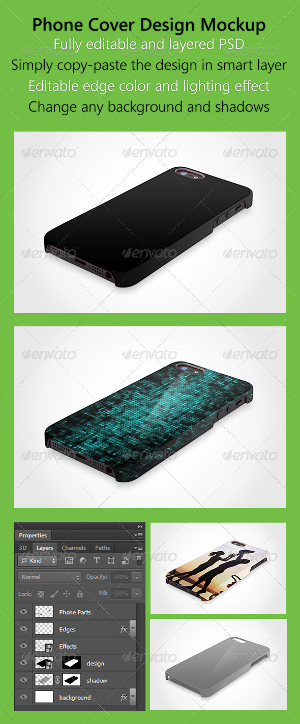 GraphicRiver Phone 5 Hard Case Skin Mock up 5150966