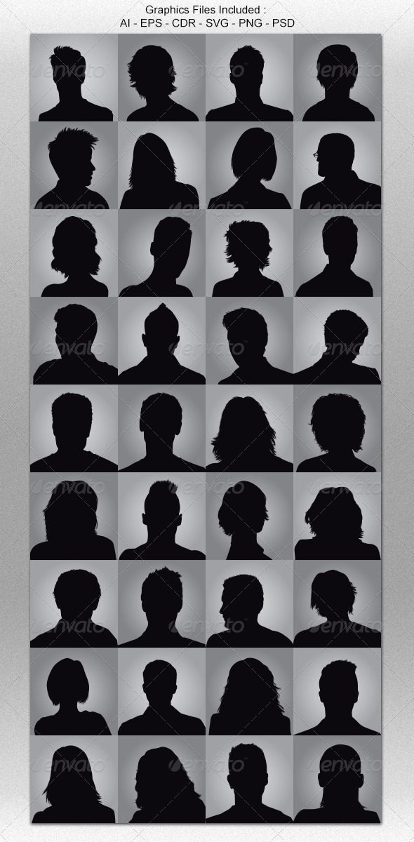 GraphicRiver Anonymous Avatar Silhouettes 5170183