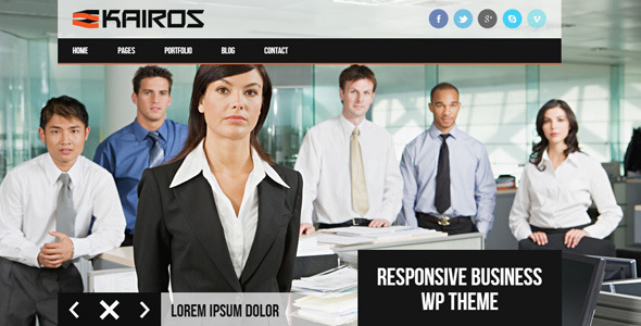 KAIROS-WP Responsive Multipurpose WordPress Theme - Business Corporate