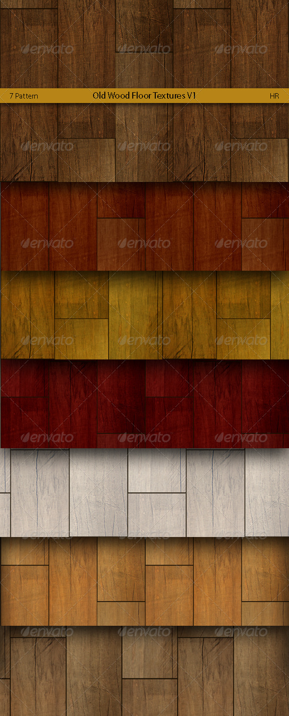 GraphicRiver Old Wood Floor Patterns 5170200