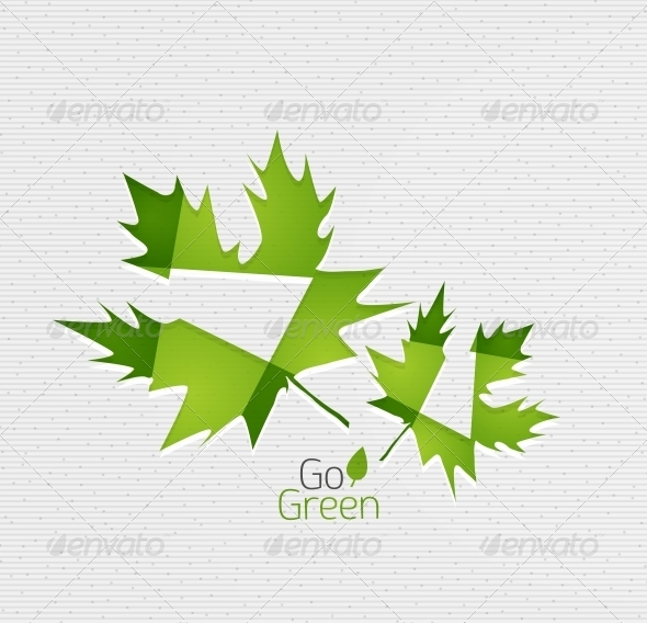 GraphicRiver Leaf on Paper Template 5170264