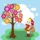 Download Vector Girl Under Tree