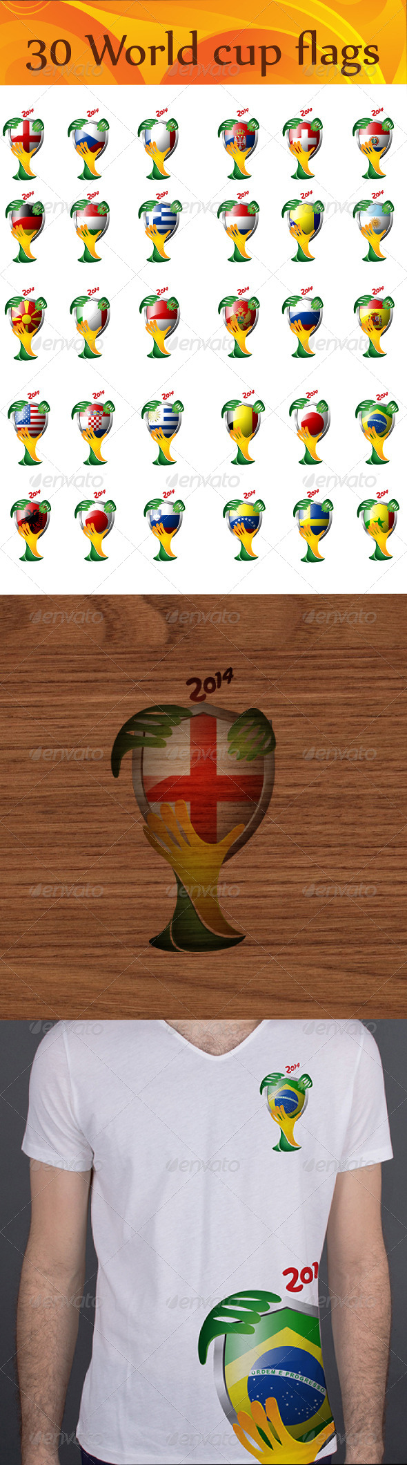 GraphicRiver 30 World Flags for 2014 Brazil World Cup 5170394