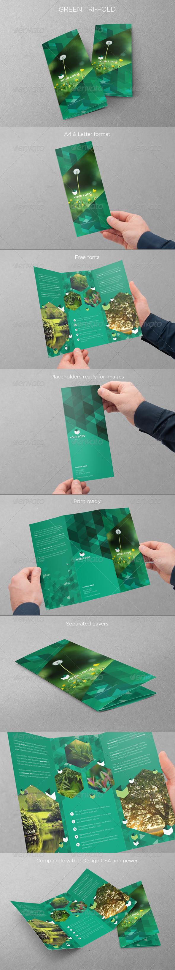 GraphicRiver Eco Green Trifold 5101698