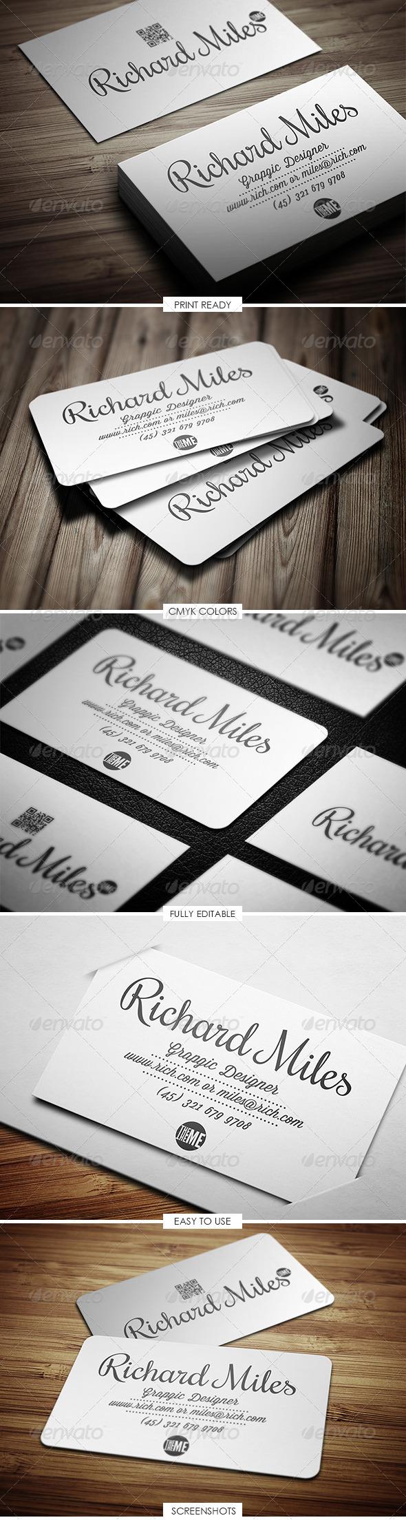 GraphicRiver Creative Elegant Business Card 5170404