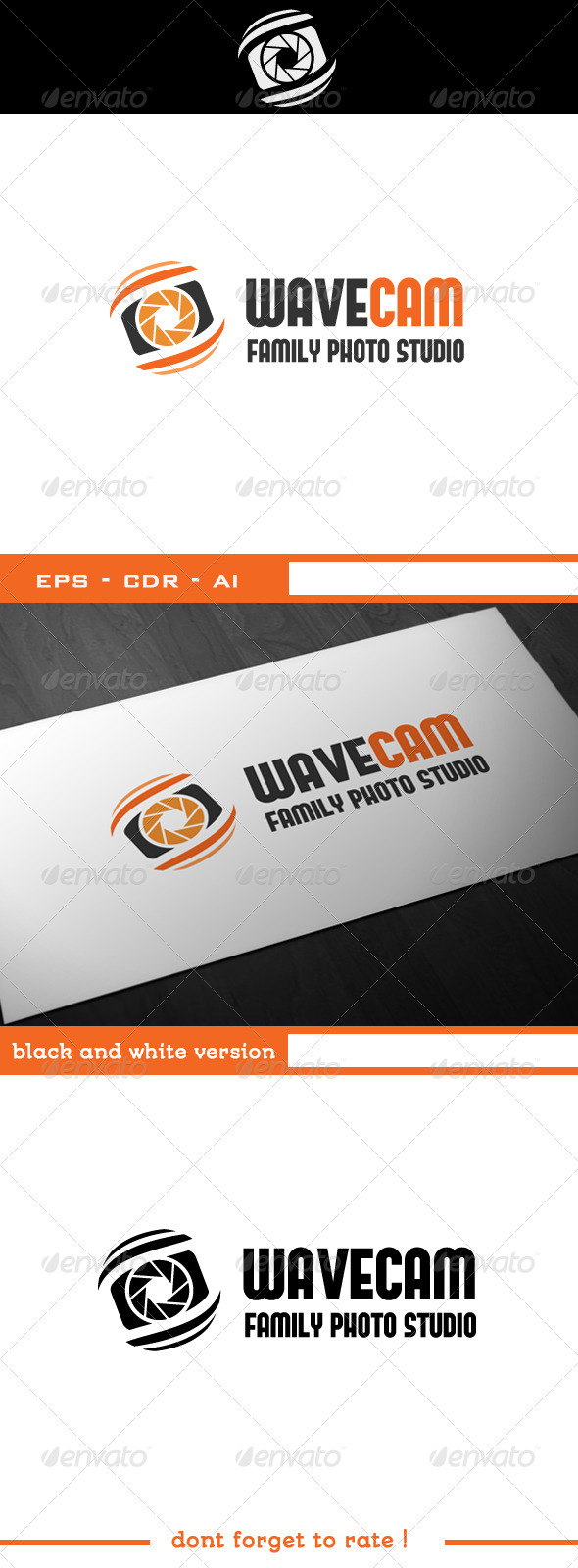 GraphicRiver Wave Camera Logo Template 5170537