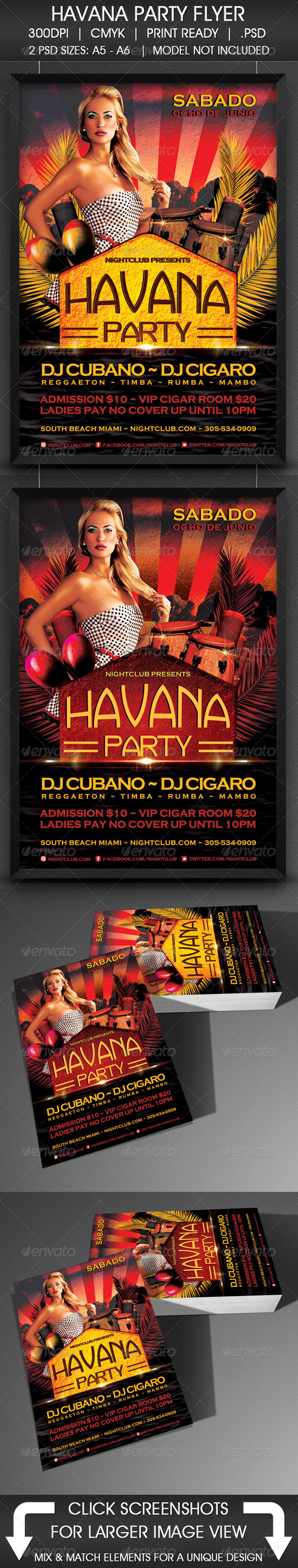 GraphicRiver Havana Party 5104334