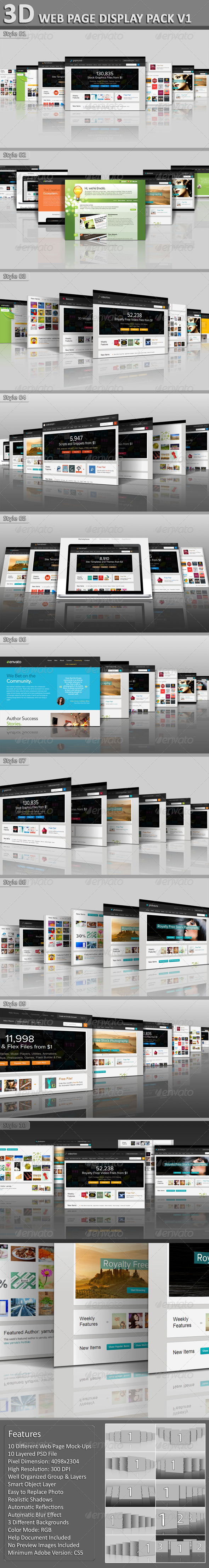 GraphicRiver 3D Web Page Display Pack V1 5159021