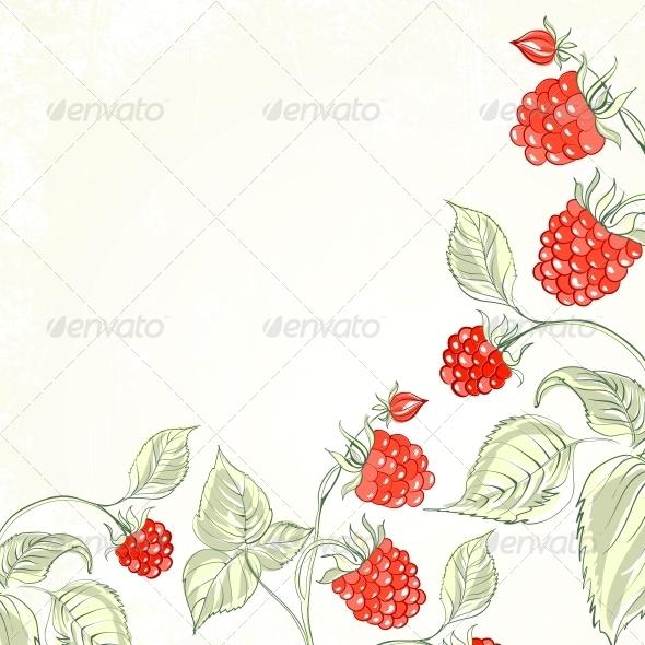 GraphicRiver Raspberry Watercolor 5171156