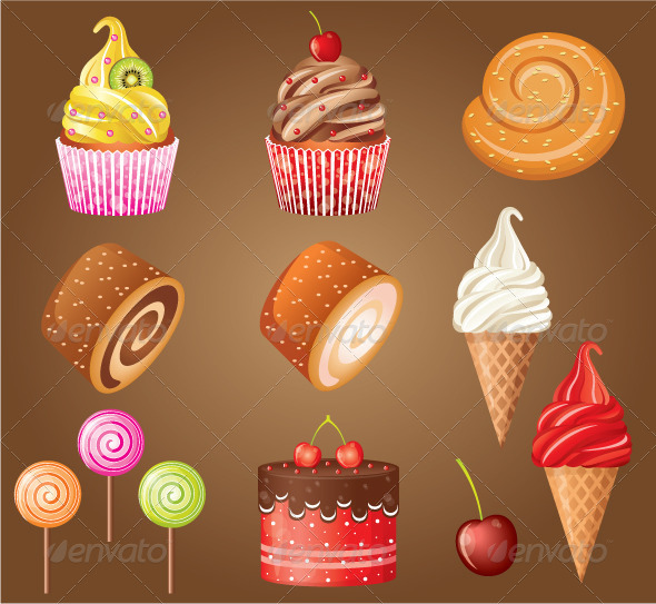 GraphicRiver Sweet Pastry Set 5171192