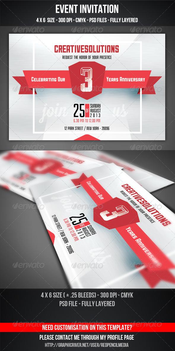 GraphicRiver Event Invitation 5171424