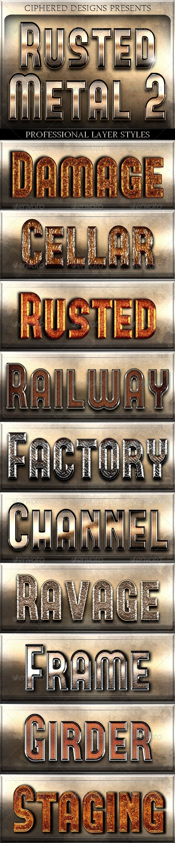 Rusted Metal 2 - Professional Layer Styles - Text Effects Styles