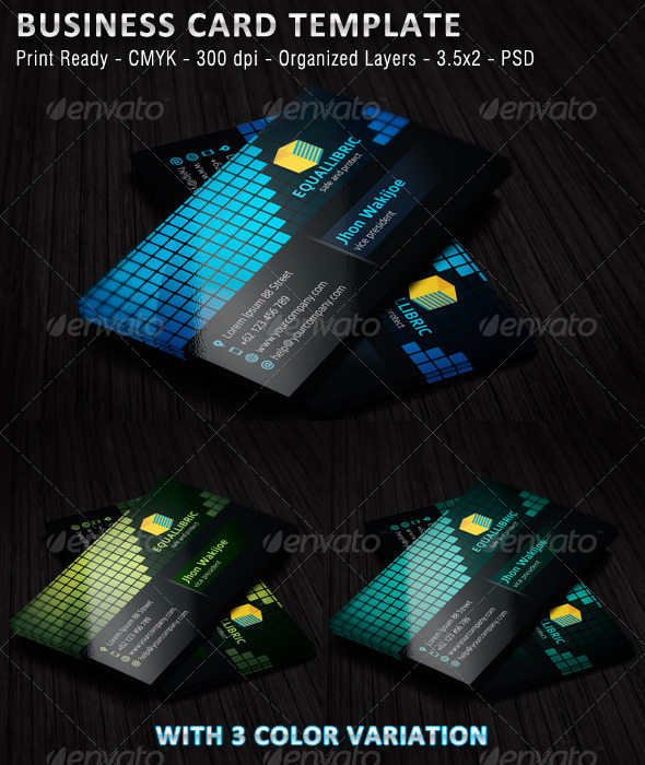 GraphicRiver Equallibric Business Card 5171652