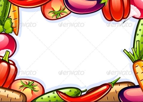 GraphicRiver Background with Vegetables 5171708