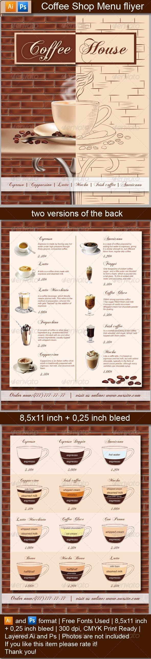 Coffee Shop Menu Flyer