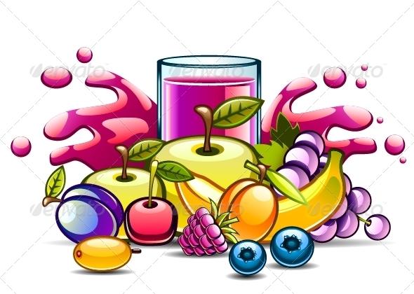 Natural Juice and Fruits