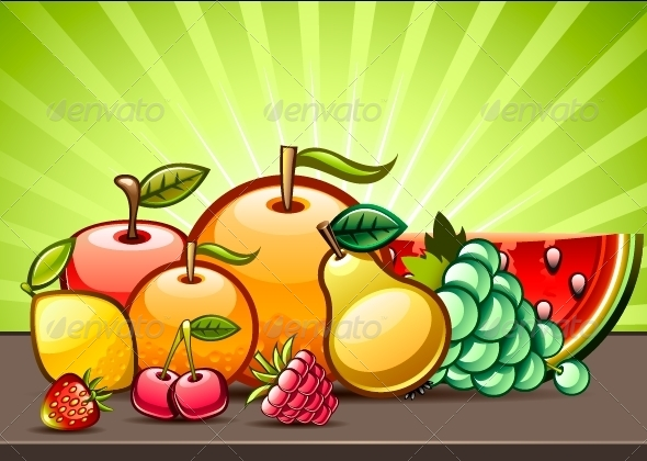 GraphicRiver Background with Fruits 5171780