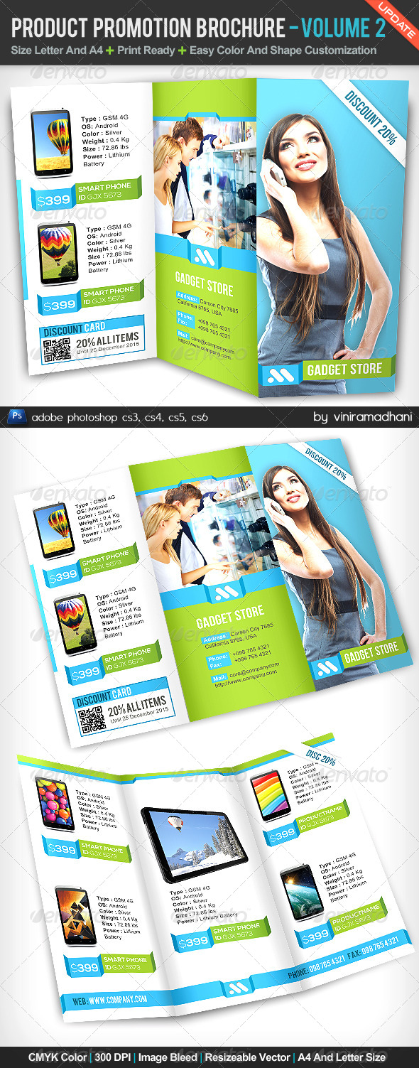 GraphicRiver Product Promotion TriFold Brochure Volume 2 5171898