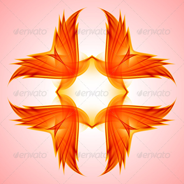 GraphicRiver Abstraction Red Symbol 5171904